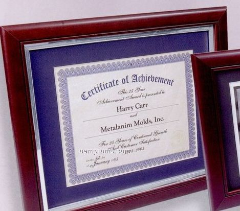 Mahogany Executive Certificate Frame W/ Liner