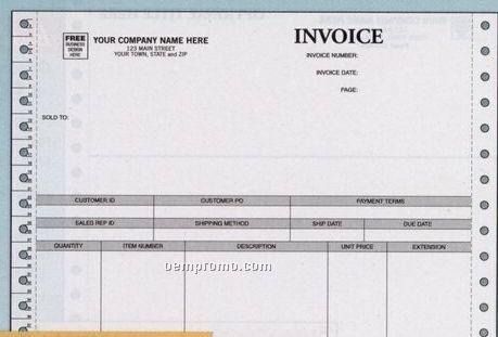 Parchment Product Invoice - Peachtree Compatible (2 Part)