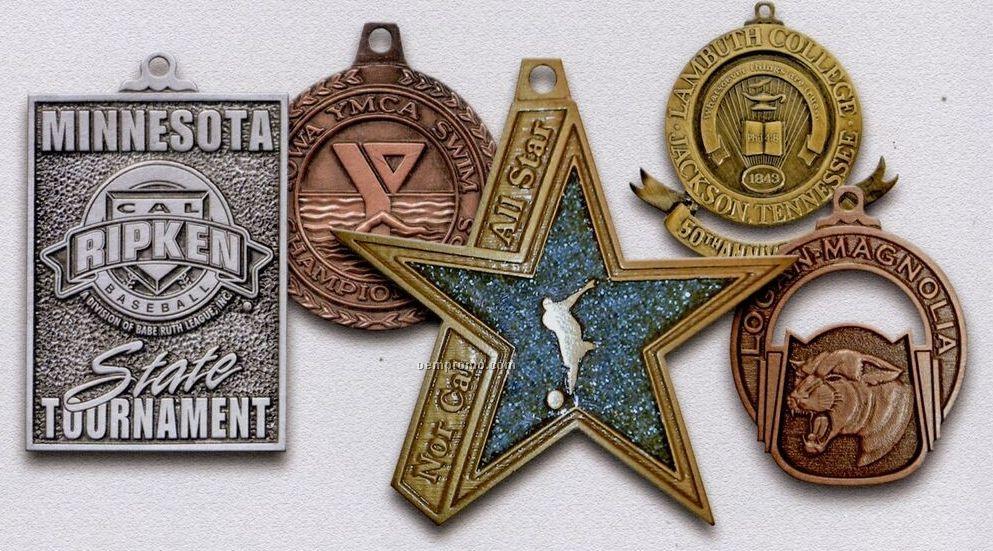 "Spin Cast Single Faced Medal (3 1/4"")"