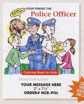 Stock Police Theme - Police Officer Coloring Book
