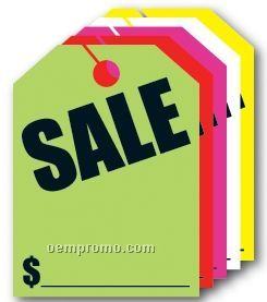 "V-t Fluorescent Mirror Hang Tag - Sale (9""X12"")"