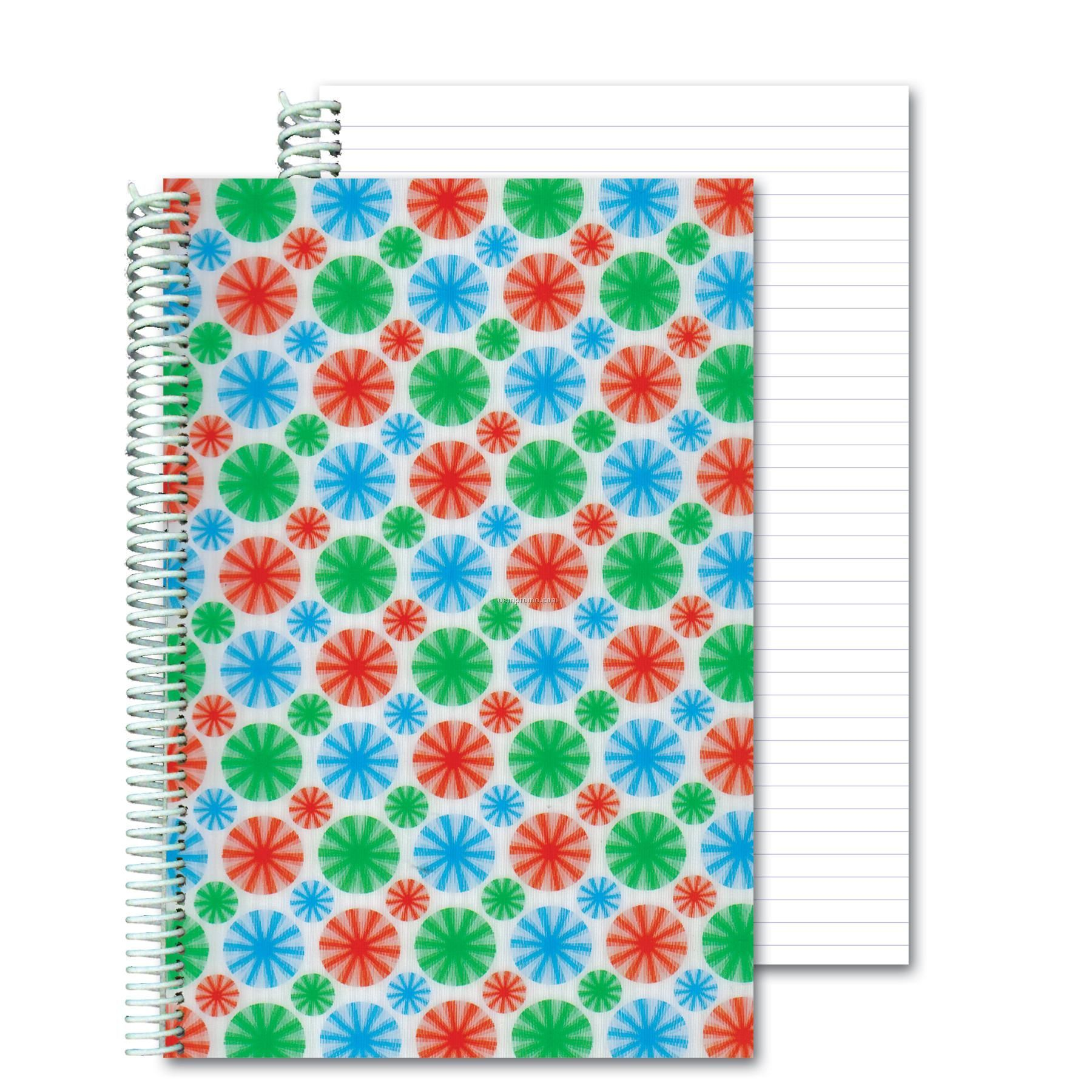 3d Lenticular Notebook Stock/Multi-colored Spinning Wheels (Blanks)