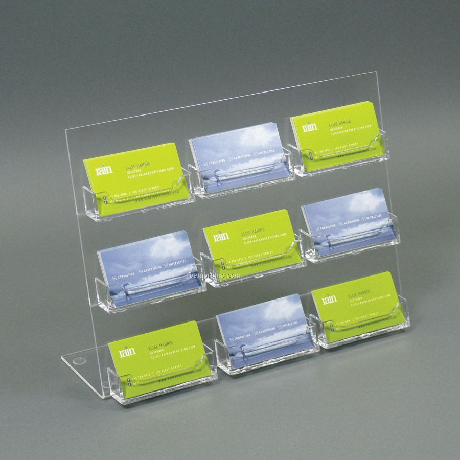 Acrylic slant back countertop business card holder 9 pockets acrylic slant back countertop business card holder 9 pockets magicingreecefo Images