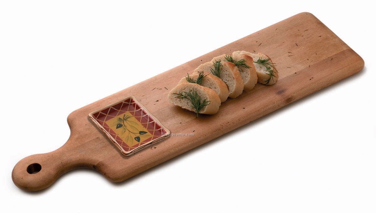 Artisan Bread & Oil Plank