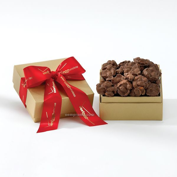 Golden Choice Gift Box With 8 Oz. Chocolate Peanut Clusters