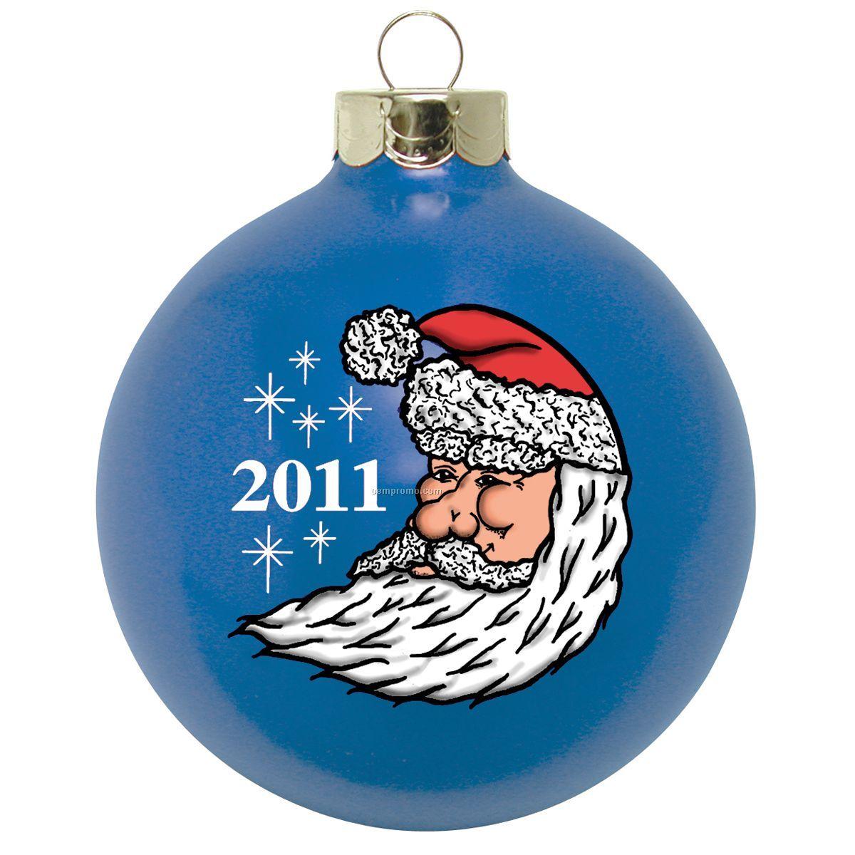 "Santa Face Stock Ornament Design K (3-1/4"")"