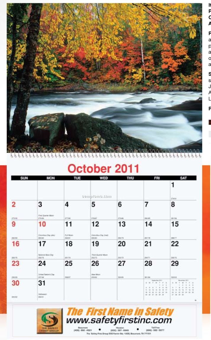 Waterways Monthly Wall Calendar (Coil Bound)