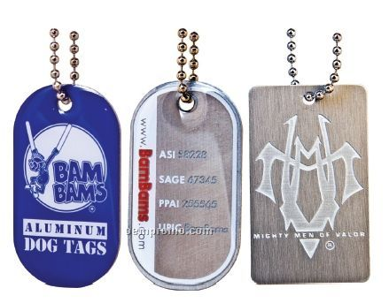 Aluminum Dog Tag - Priority (Photo Etched W/ Soft Enamel)