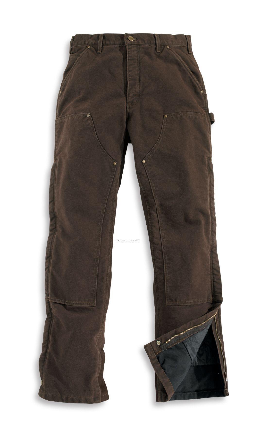 Carhartt Men's Sandstone Waist Overalls/ Quilt Lined