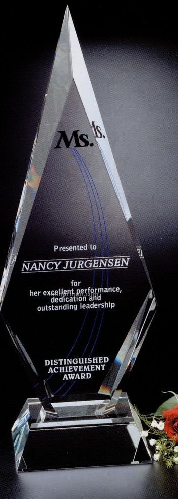 Signature Gallery Crystal Solitaire Award