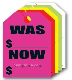 """V-t Fluorescent Mirror Hang Tag - Was/ Now (9""""X12"""")"""