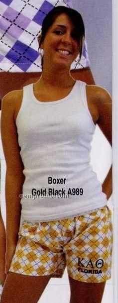 Adult's No Fly Argyle Boxer Shorts (S-xl)