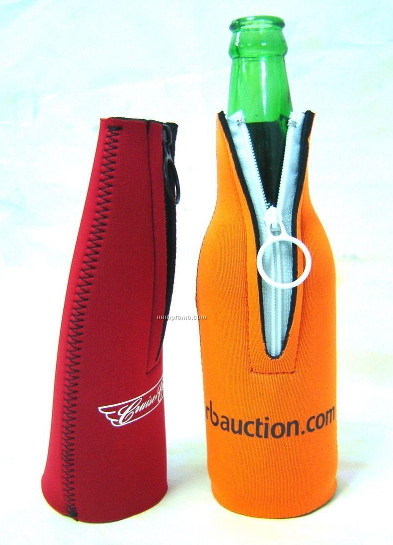 Bottle Koozie W/ Zipper