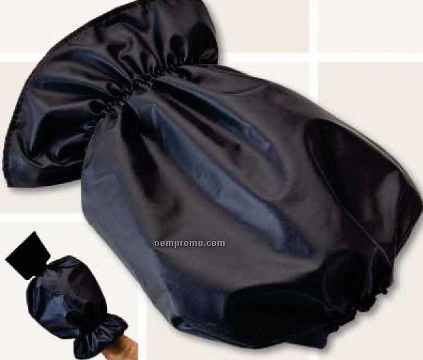 Ice Scraper Mitt - Black (One Size Fits Most)