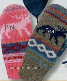 Kindercap Girls Knit Acrylic Mittens