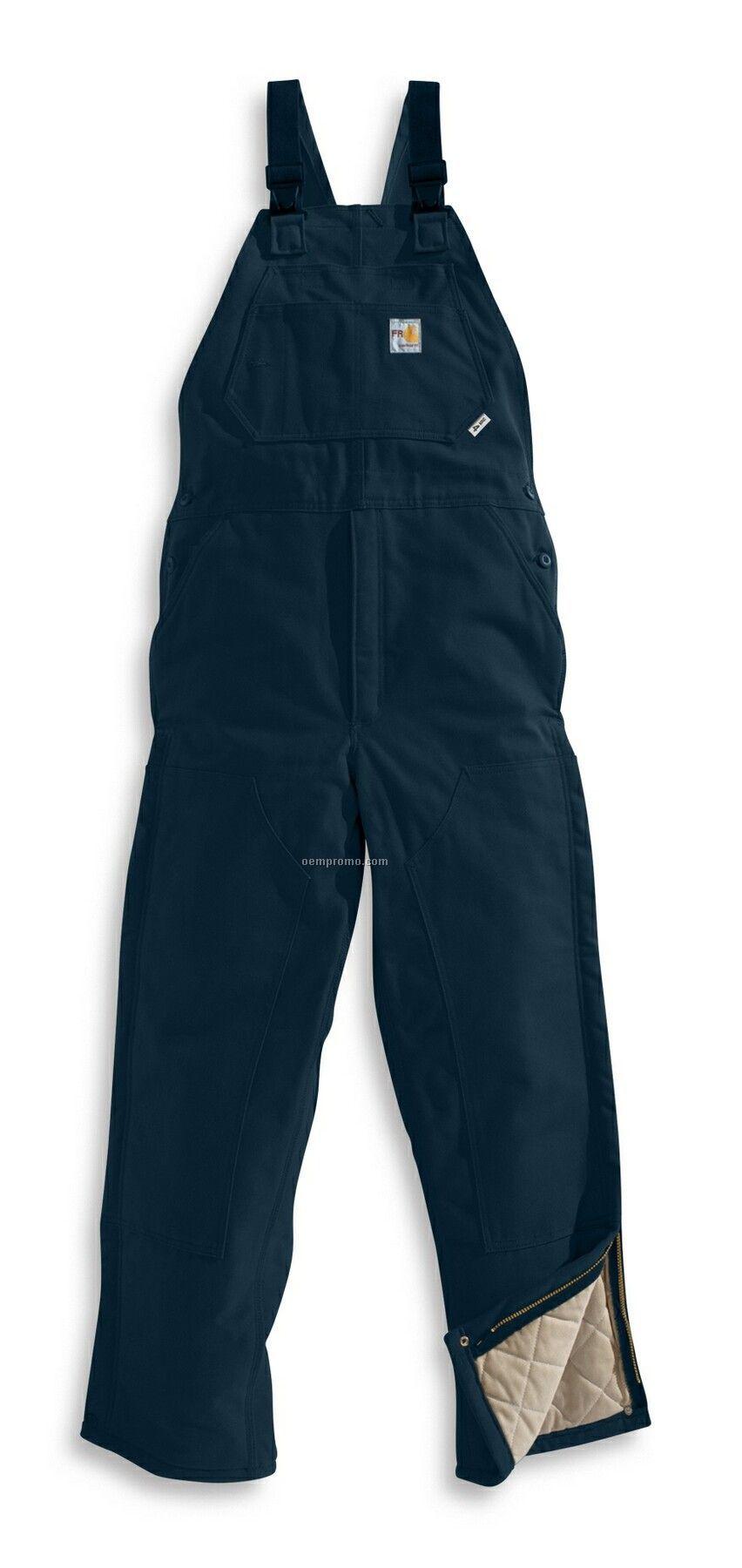 Carhartt Men's Flame Resistant Duck Bib Overall/ Quilt Lined