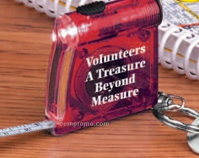 Key Ring Tape Measure And Light
