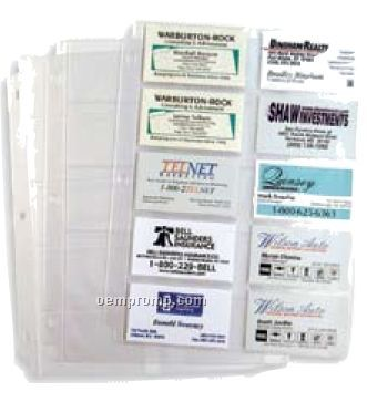 Business Card Holder Page