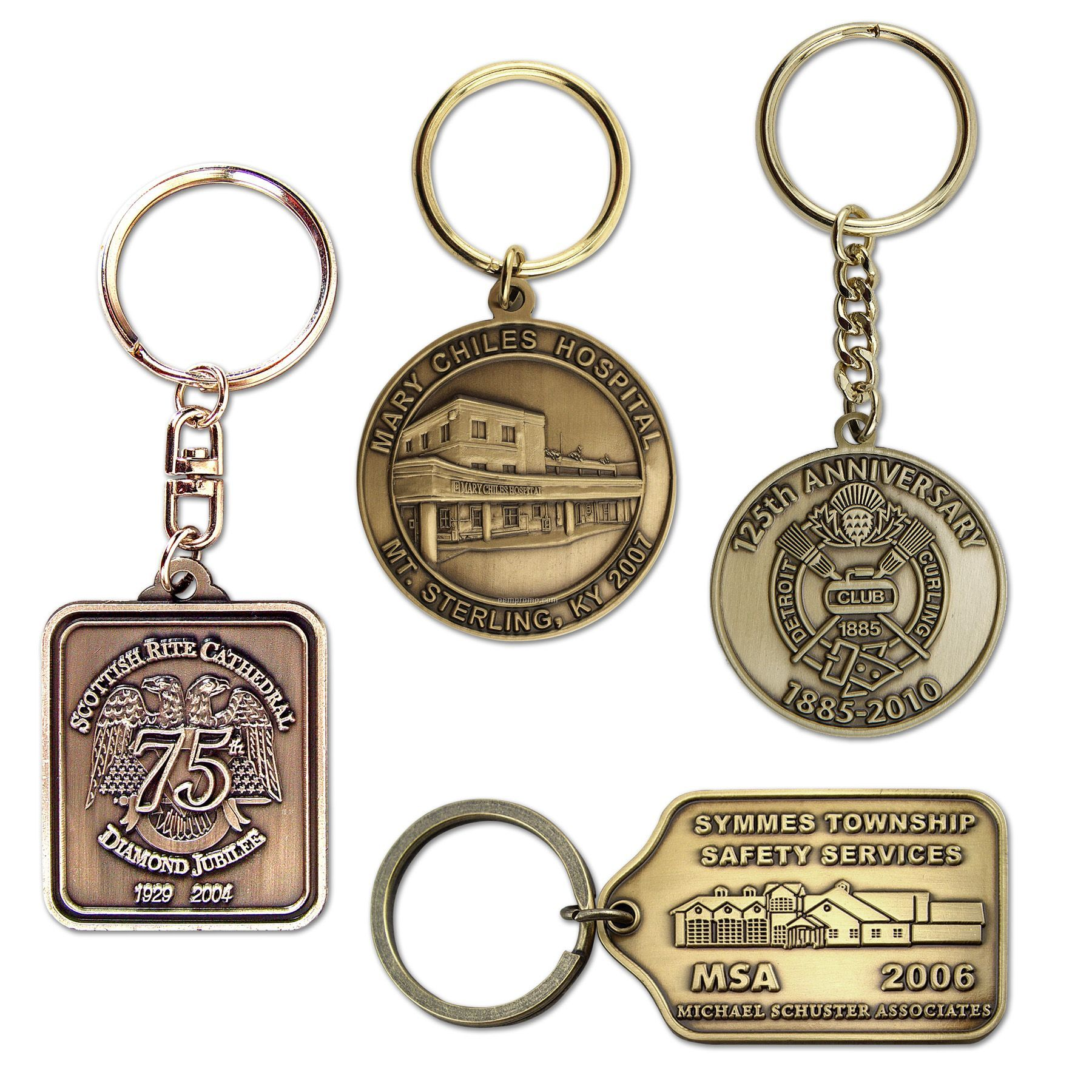 "Die Struck Brass Key Tag (1-3/4"")"