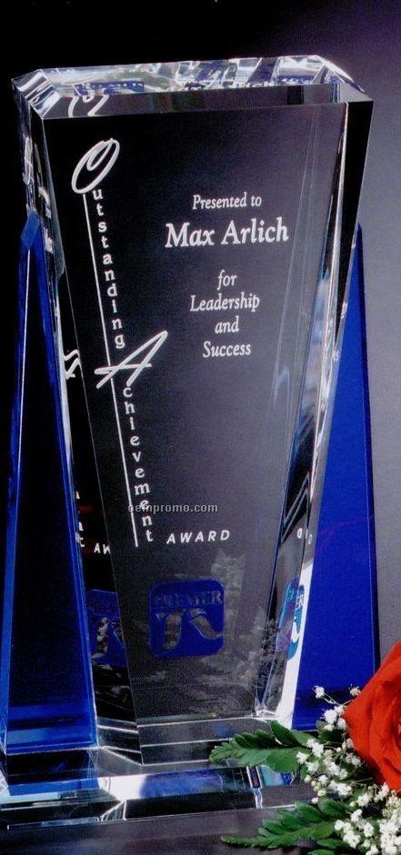 """Indigo Gallery Crystal Sentinel Award (8 1/2"""")"""