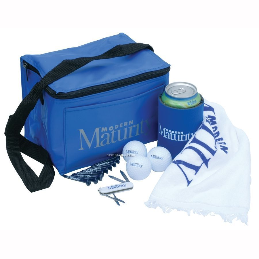 6 Pack Cooler Bag Tournament Pack W/ 3 Authoritee Golf Balls