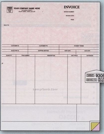 Classic Laser Invoice - Peachtree Compatible (3 Part)