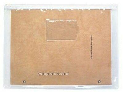 Clear Vinyl Document/Sheet Protector W/ Slide Zipper.