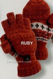 Hand Knit Wool Blend Mittens