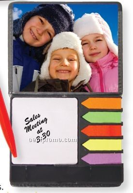 Leatherette Case W/ Memo Pad & Sticky Notes (Printed)