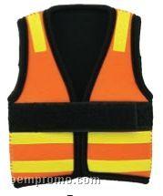 Neoprene Safety Vest Stubby Cooler (15 Day Service)