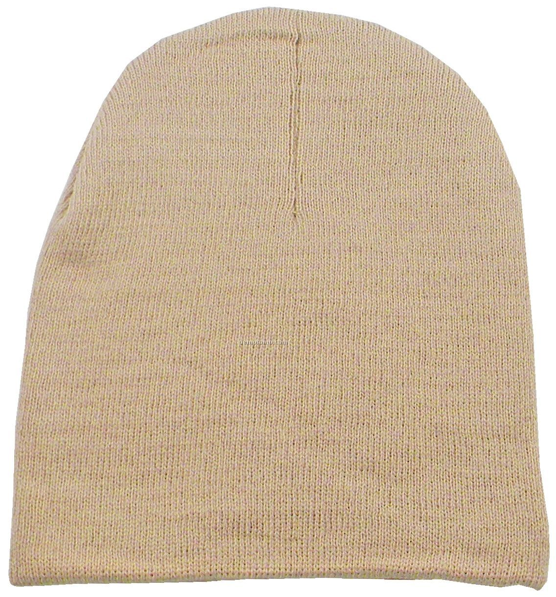 Short Knit Beanie Hat (Domestic 5 Day Delivery)