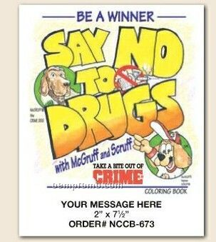 Stock Safety Theme - Say No To Drugs Coloring Book