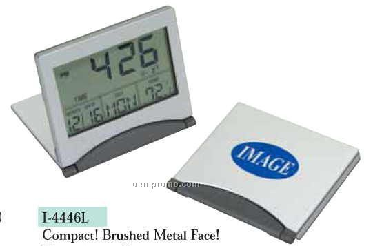 Compact Travel Alarm Clock With Calendar