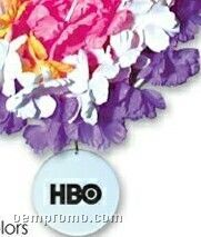 Solid Silk Flower Leis Assortment With Medallions (Printed)
