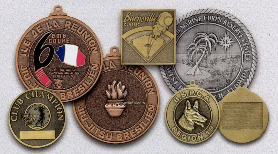 """Spin Cast Double Faced Medals, Coins & Emblems (2 3/4"""")"""
