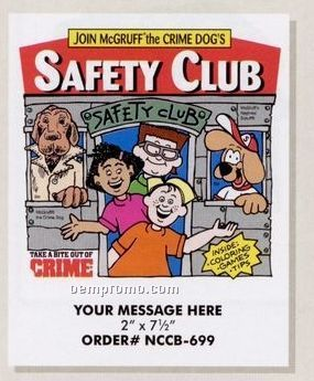 Stock Safety Theme - Safety Club Coloring Book