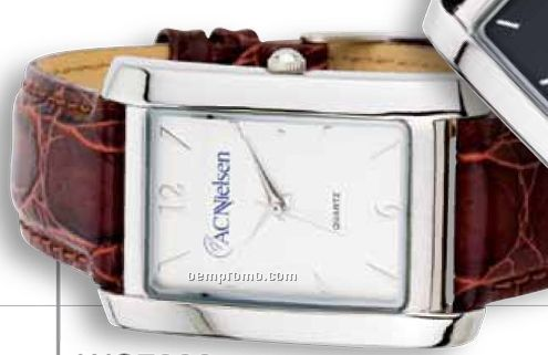 Watch Creations Ladies' Watch W/ Rectangle Face & Brown Leather Strap