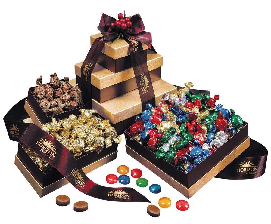 Individual Wrapped Hard Candy Tower