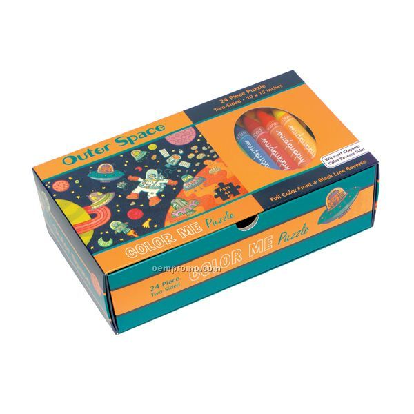 Outer Space Color Me Puzzle