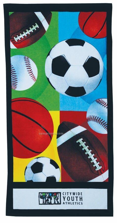 Sport Stock Design Beach Towel - Printed