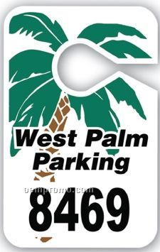 V-t Custom Large Hanging Parking Permit - Reflective Laminate