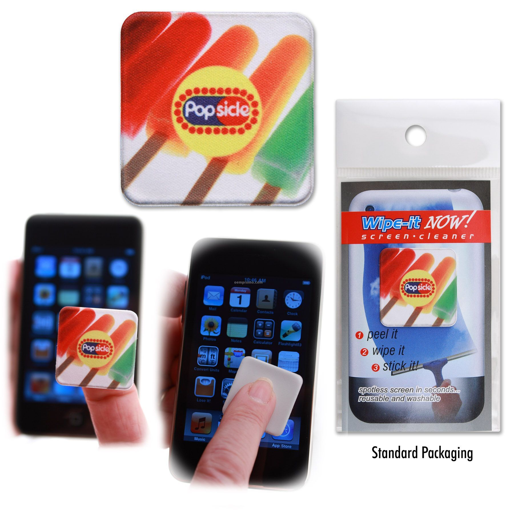 Wipe-it Now Screen Cleaner - Square