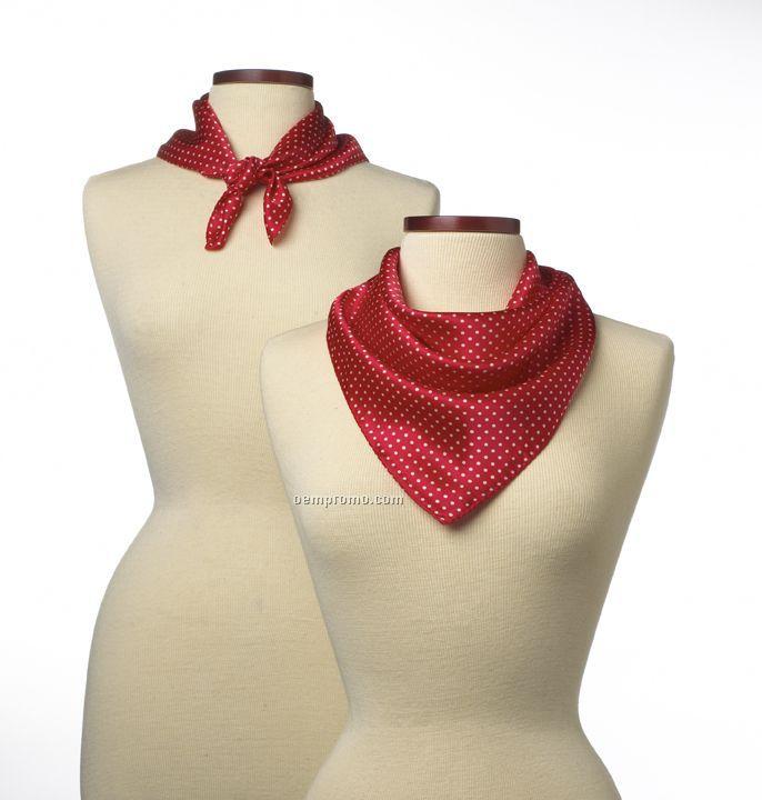 "Wolfmark Newport Silk Scarf - Red (21""X21"")"