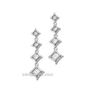 14kw Journey Diamond Earrings (Pair)