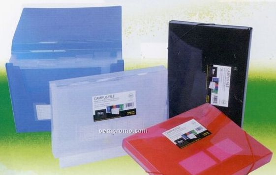 Assorted Pack Translucent Expanding Campus File