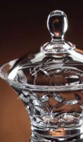 """Crystalline Pompeii Covered Candy Dish (7"""")"""