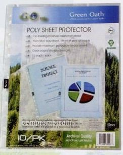 10 Pack Poly Sheet Protector