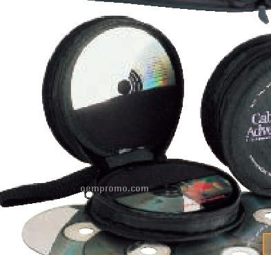 Deluxe Round 12 CD Holder With Carry Strap Or Auto Visor Mount