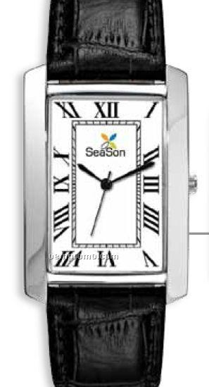 Men's Classic Casual Watch W/ Rectangular Metal Case