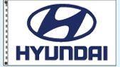 Stock Cluster 3 Flag Set W/ Staff & Hardware (Hyundai)